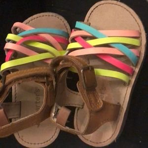 Little girl size 6 carters sandals!